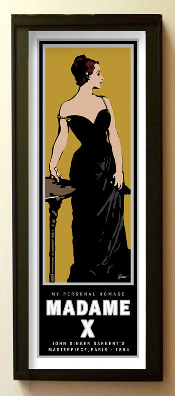 graphic portrait of madame x