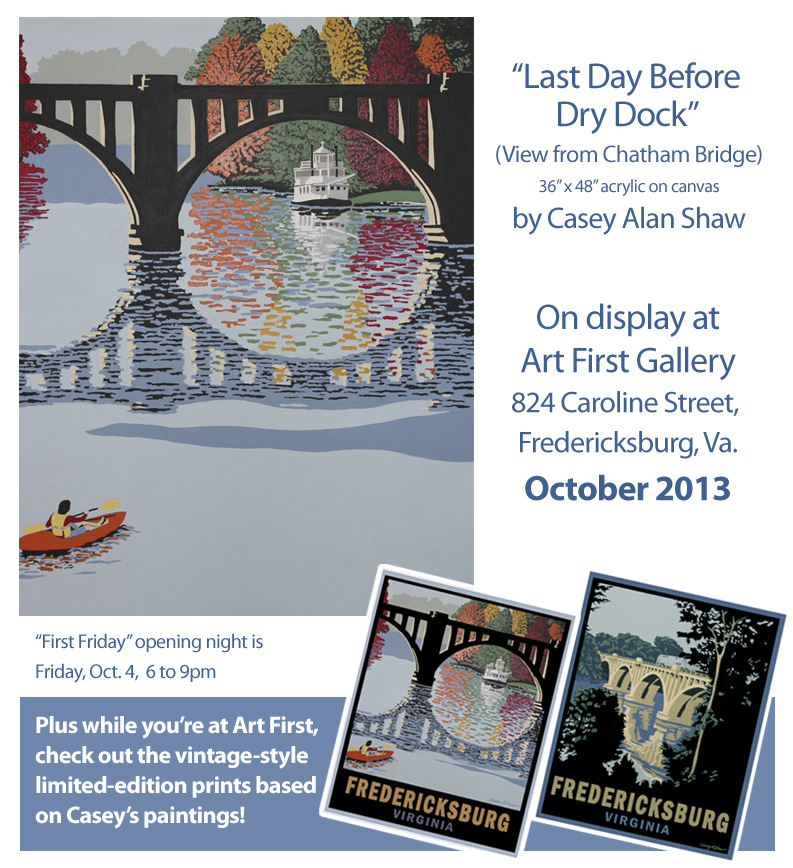 Latest paintings and prints by Casey Alan Shaw, October 2014